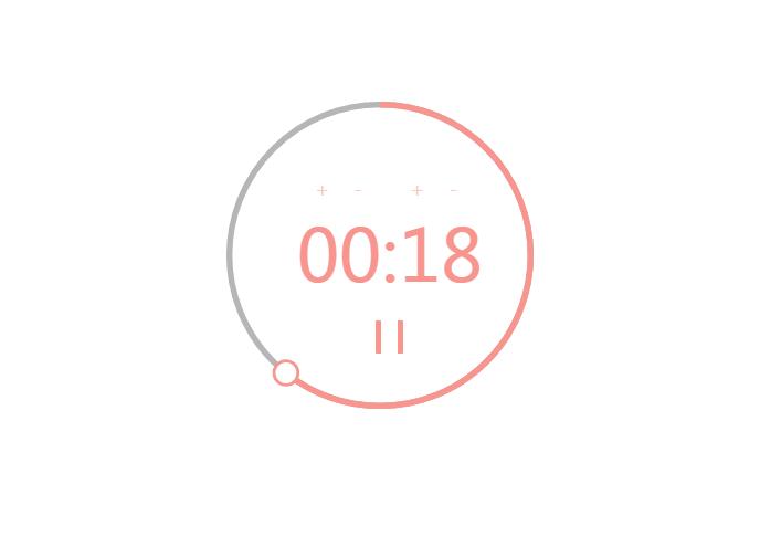 圆形进度条样式的JS倒计时定时器
