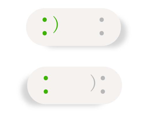 简单的CSS3笑脸表情开关切换按钮代码