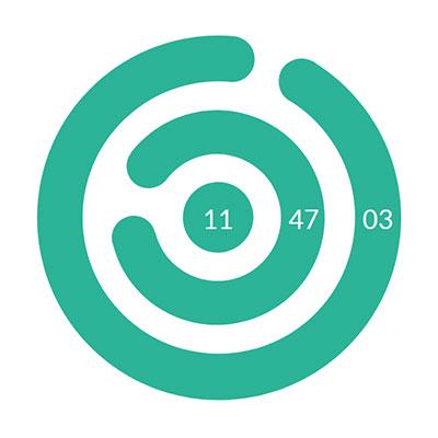 html5 svg创意圆圈旋转时钟动画特效