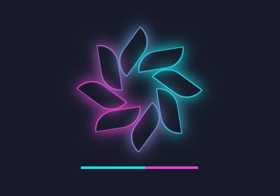 非常好看的css3花瓣旋转动画加载特效