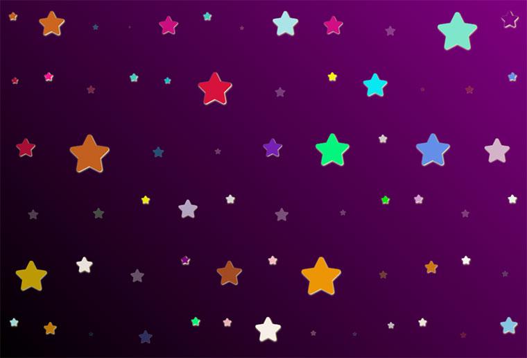 js+css3绘制彩色五角星放大缩小动画特效
