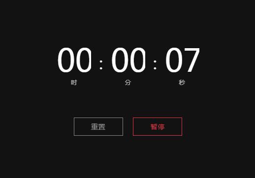 纯css3时分秒计时器代码
