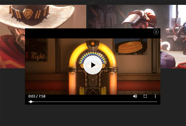 jQuery+html5 video點擊彈窗播放視頻代碼