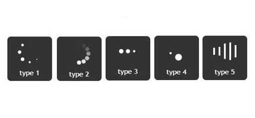 5種常用的jQuery+css3網頁loading圖標動畫效果