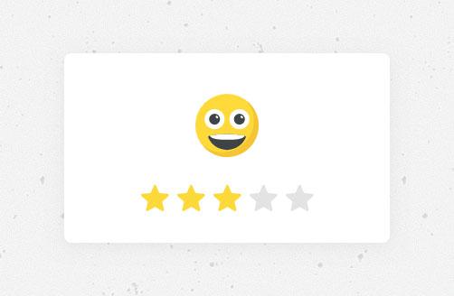 css3创意趣味交互式五星表情评分特效