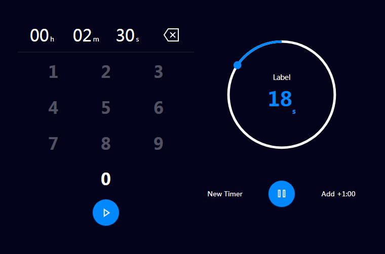 jQuery创意倒计时计时器代码