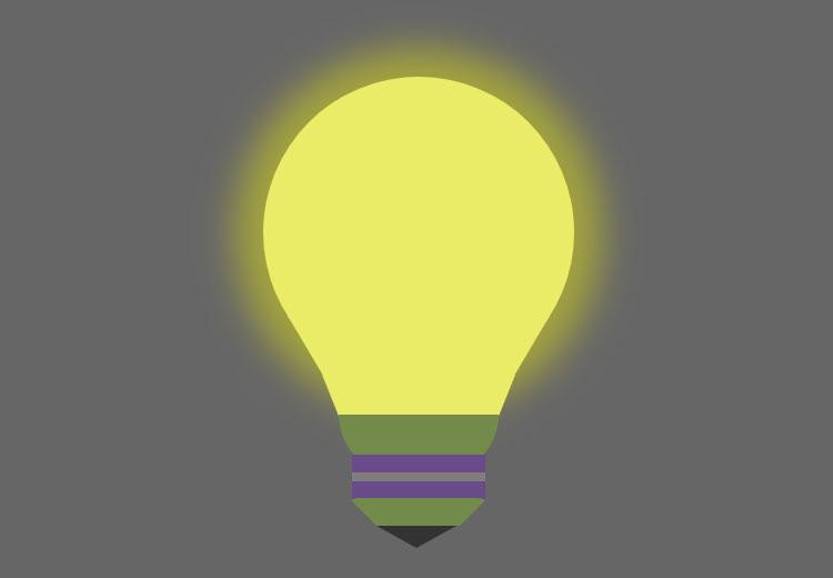 css3鼠标悬停灯泡发光动画特效