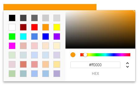 简单的js颜色选择拾色器插件