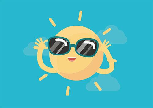 html5 svg+css3绘制可爱的卡通太阳动画特效