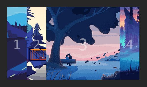 js手风琴焦点图图片切换特效