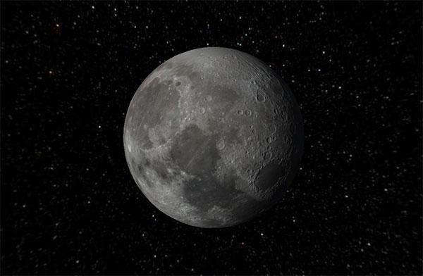 html5 canvas 3D月球自转动画特效