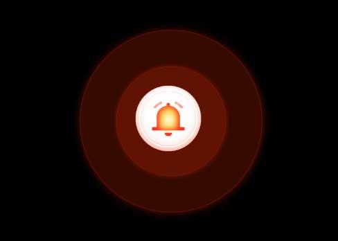 css3火警提示图标声波动画特效