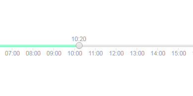 jQuery拖拽滑块选择时间插件