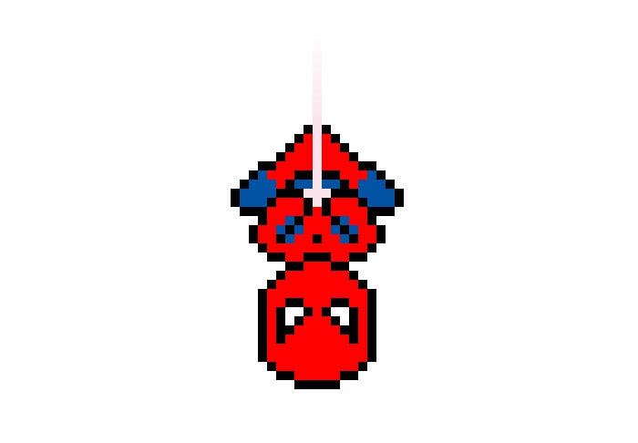 css3绘制像素蜘蛛侠特效