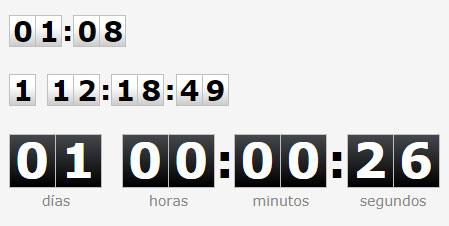 jQuery翻页式计时器倒计时数字时钟插件TimeTo