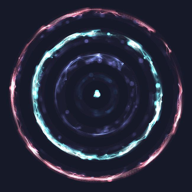 html5 canvas水晶光圈圆环旋转动画特效