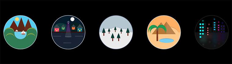 5个css3卡通户外场景动画特效