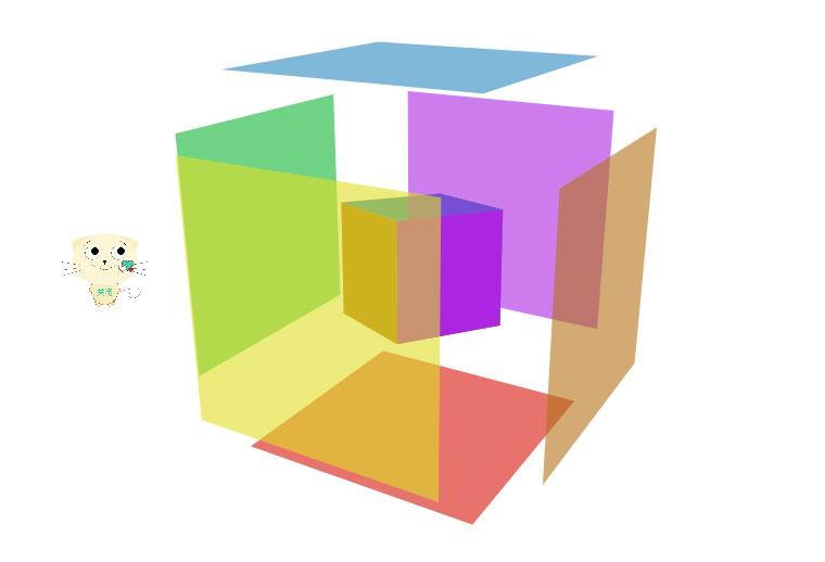 vue.js立方体图片相册旋转和音乐播放特效