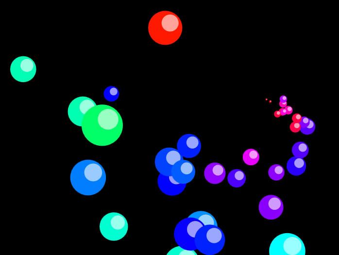 js+html5 canvas全屏彩色气泡动画特效