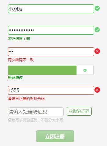 js常用表单正则表达式验证代码
