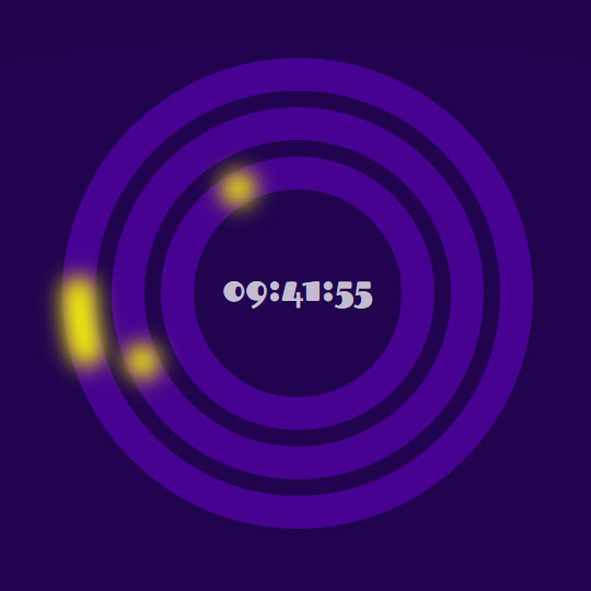 html5 svg+js创意圆环数字时钟动画特效