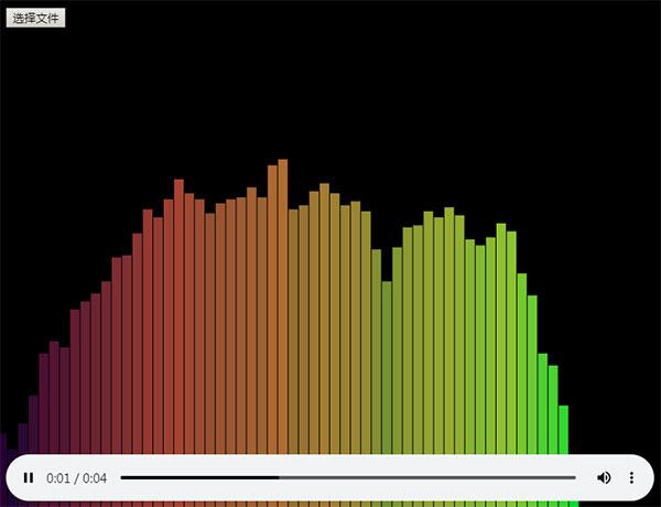 html5 canvas+js音频可视化动画特效