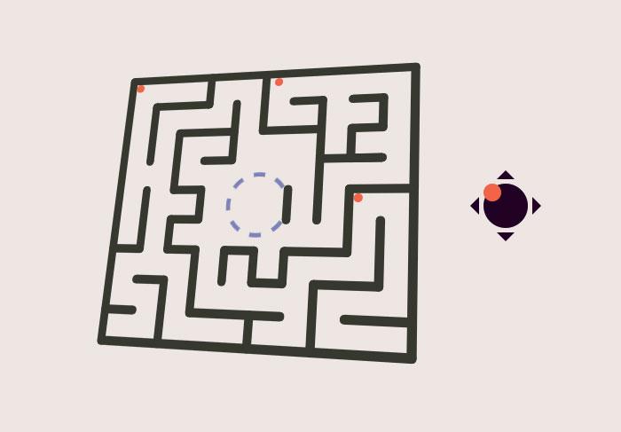 html5+js倾斜迷宫小游戏代码