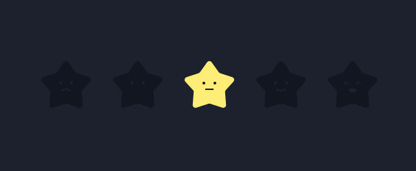 jQuery+html5 svg星级评分动画特效