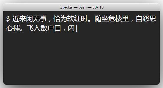 typed.js打字动画插件