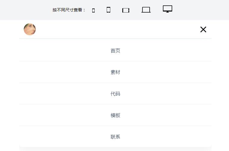 js浏览器不同尺寸查看预览特效