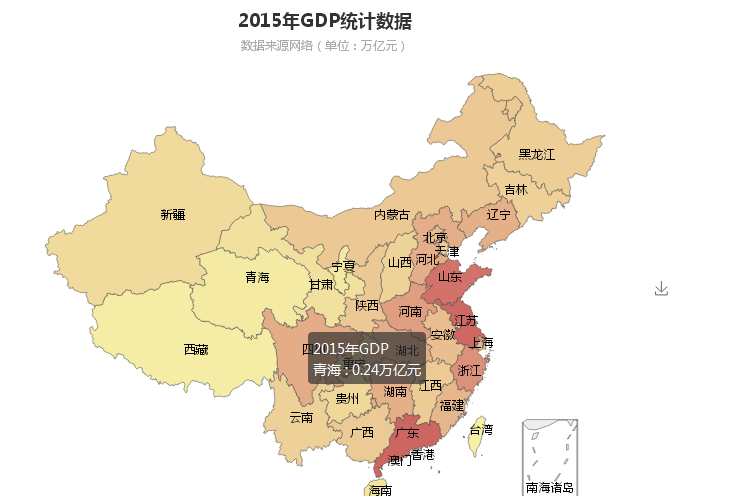 PHP+echarts读取地图数据