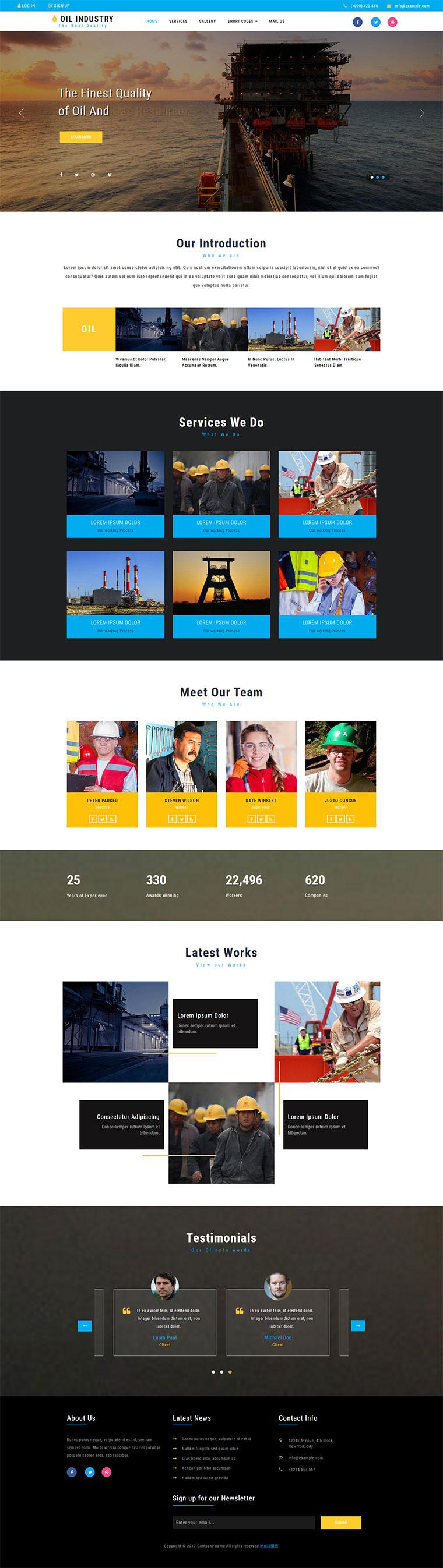 html5响应式桥梁施工建设公司网站模板