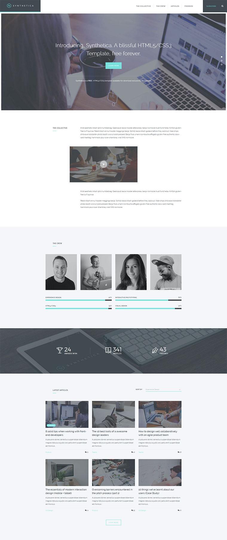 html5响应式互联网科技公司网站模板