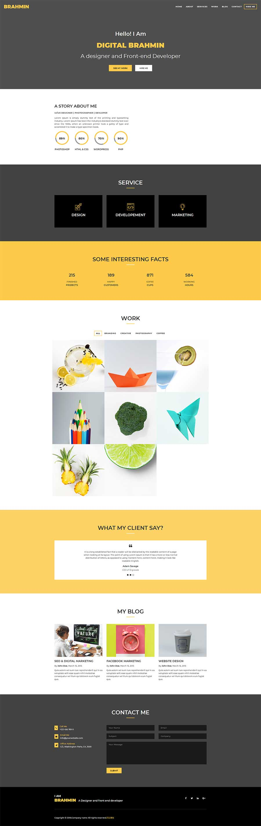 简洁大气html5响应式创意产品设计公司网站模板