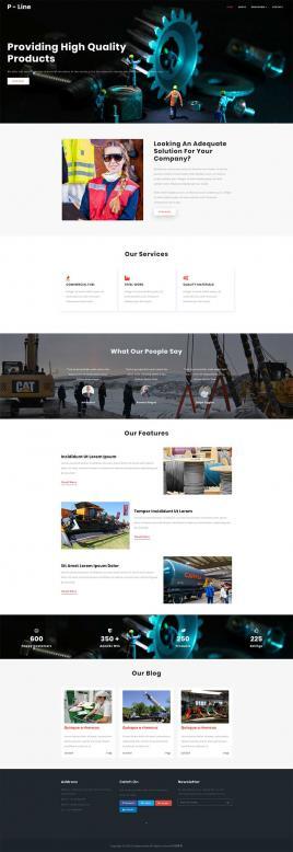 Bootstrap响应式齿轮机械公司网站模板