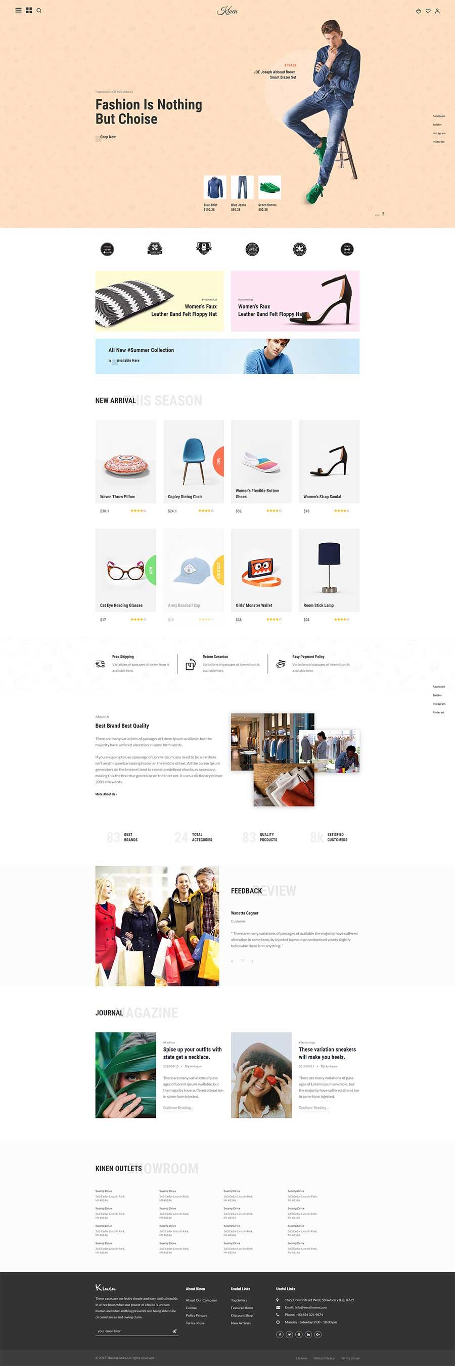 Bootstrap时尚服装及配饰在线购物商城响应式模板