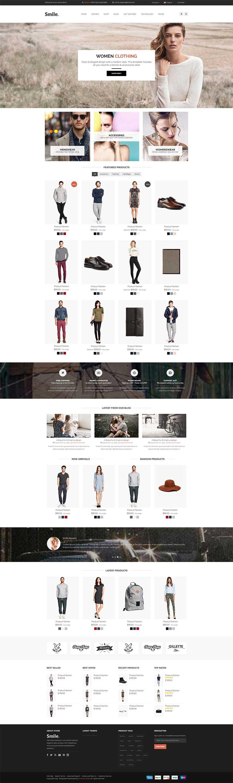 黑白简约Bootstrap响应式服装电商购物网站模板