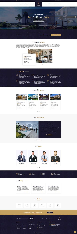 大气宽屏Bootstrap响应式房产销售公司网站模板