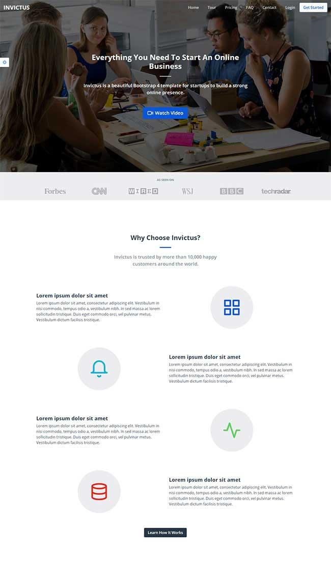 大气宽屏html5响应式商务软件开发公司官网模板