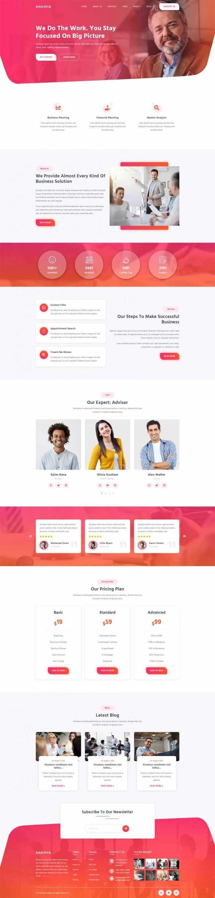 Bootstrap响应式企业咨询商业咨询公司网站模板