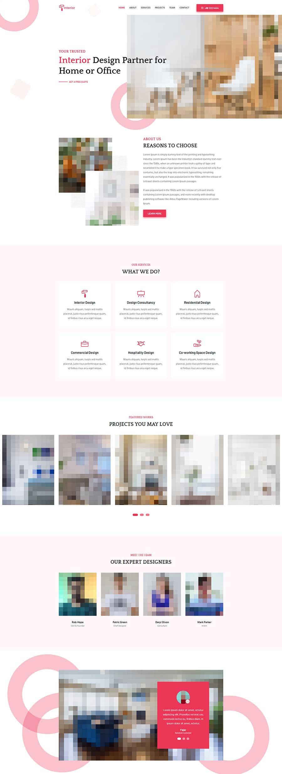 html5宽屏大气响应式室内装修设计企业网站模板