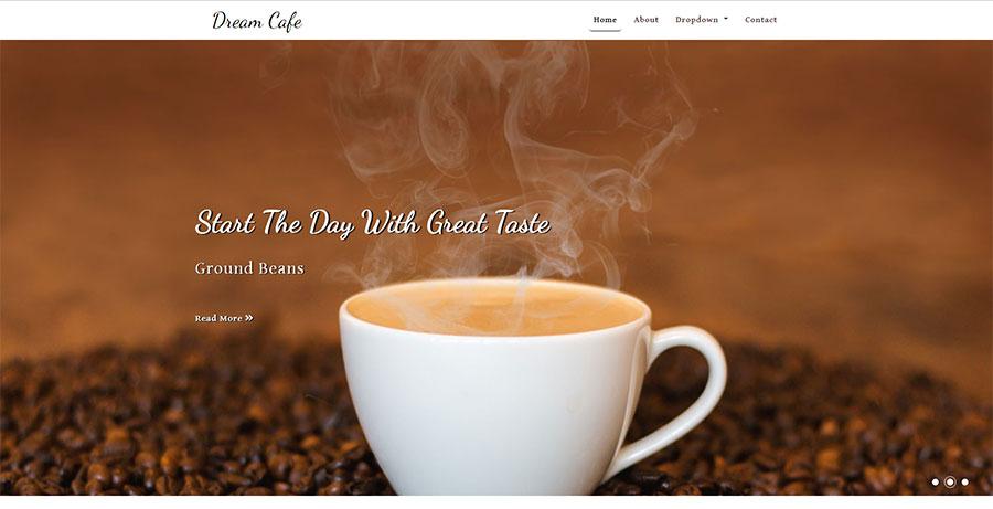 html5响应式咖啡下午茶店铺网站模板