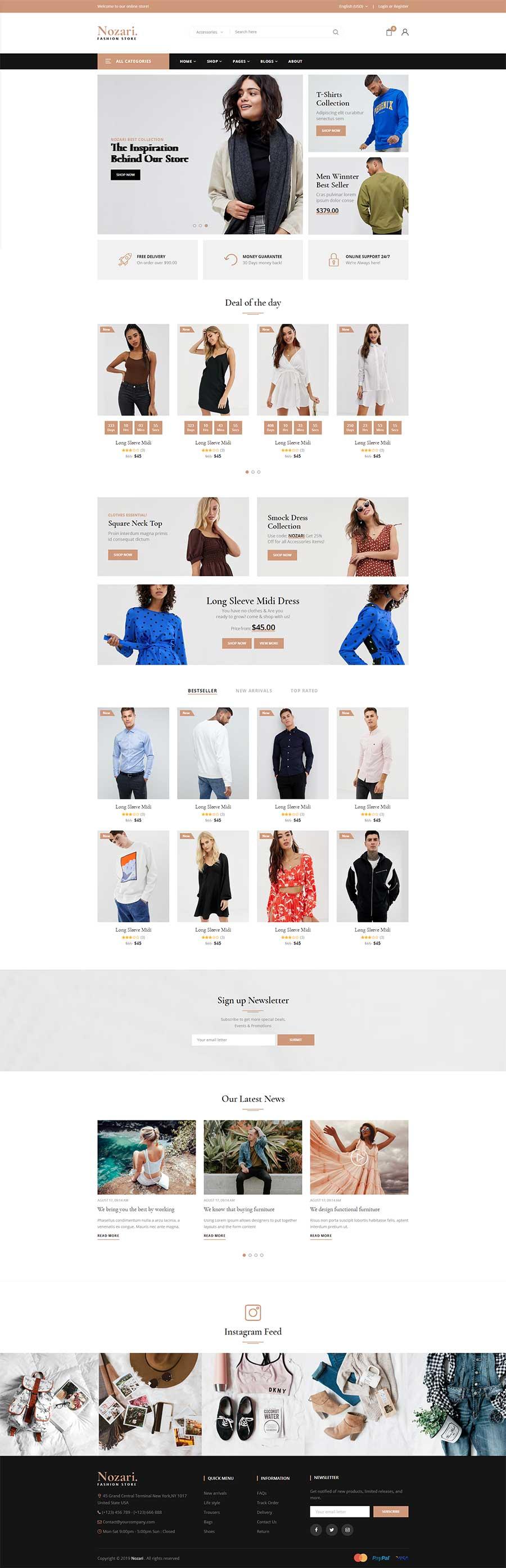 Bootstrap3时尚服装购物商城响应式模板