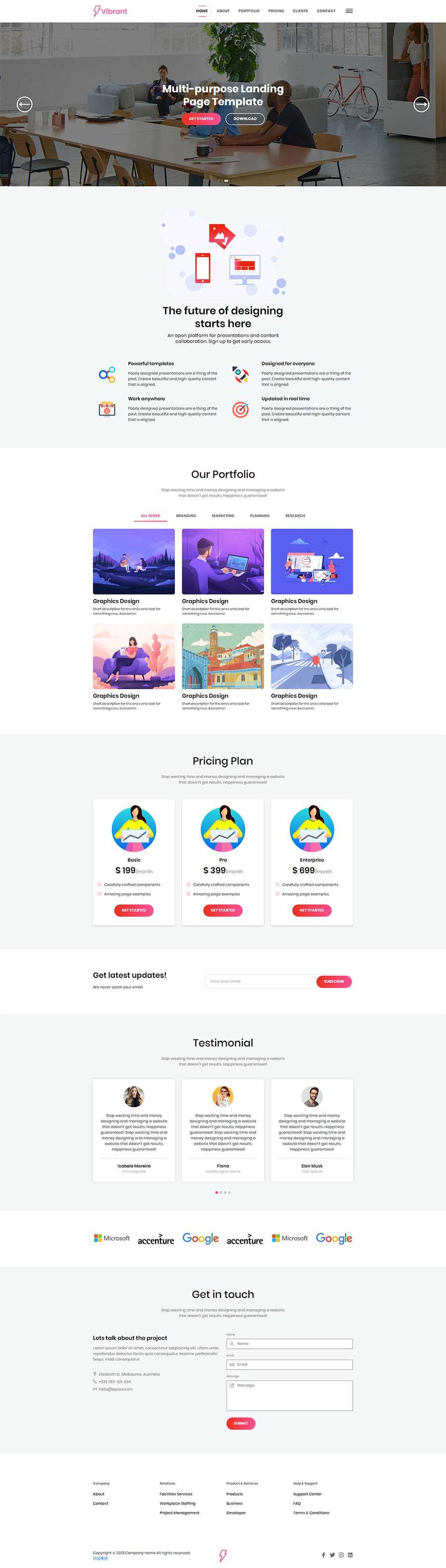 Bootstrap4响应式商业解决方案公司网站模板