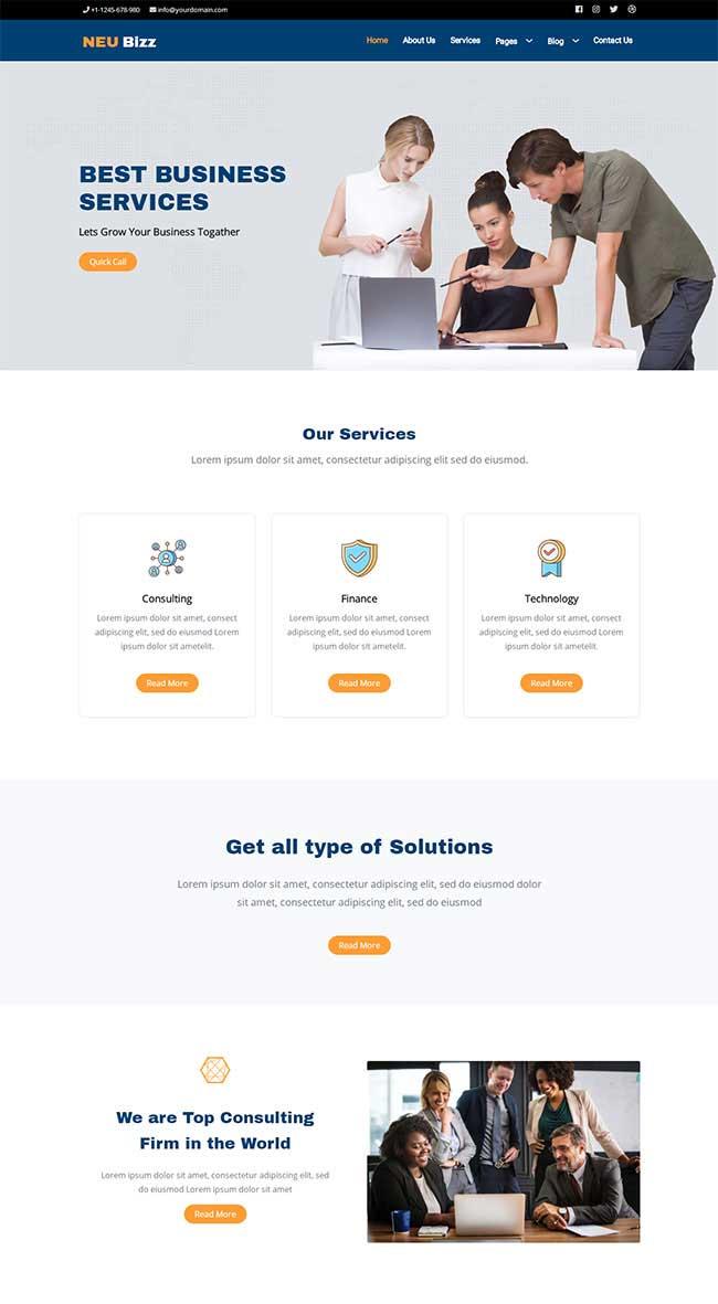 html5简洁大气响应式商务合作公司网站模板