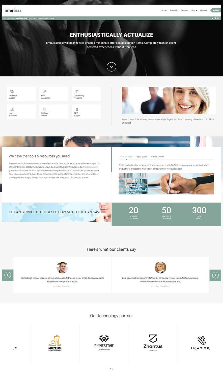 宽屏大气html5响应式全球贸易公司网站模板