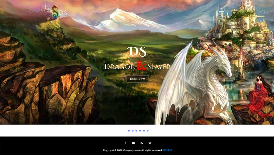 html5響應式國外游戲公司網站模板