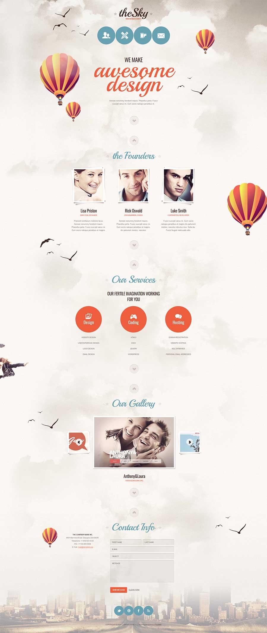精美创意网页设计师团队工作室主页模板