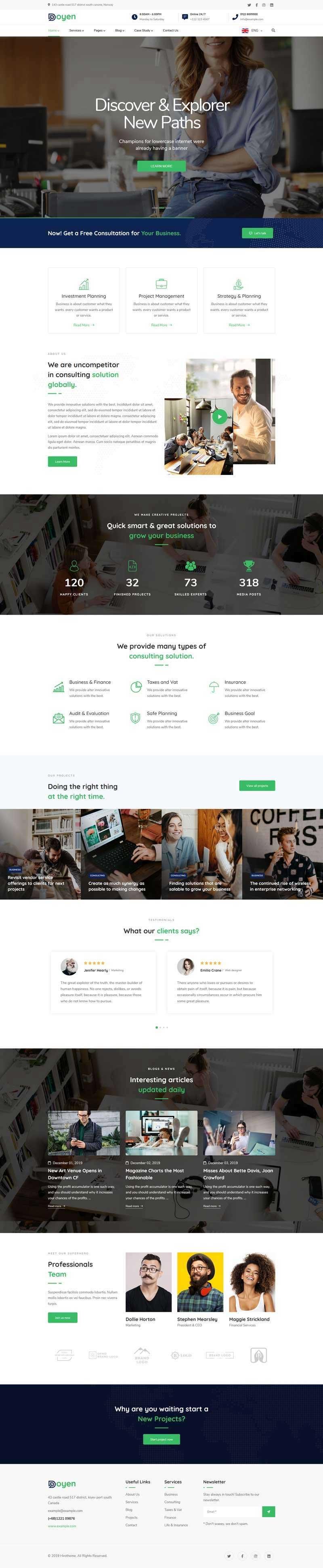html5响应式商业顾问业务咨询管理公司网站模板