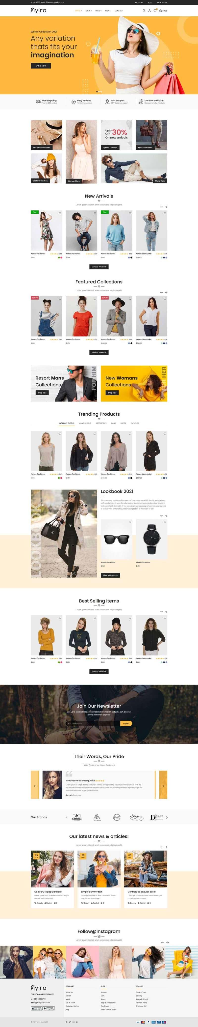 html5大气时尚响应式在线服装销售商城网站模板